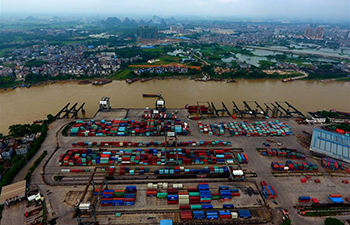 Guigang Port of China's Guangxi sees increasing throughput in 1st half
