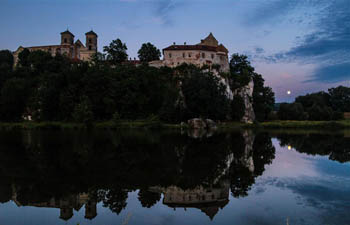 In pics: sunset at ancient Benedictine Abbey of Tyniec in S Poland