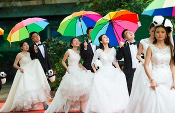 227 pairs of newlyweds attend group wedding ceremony in S China