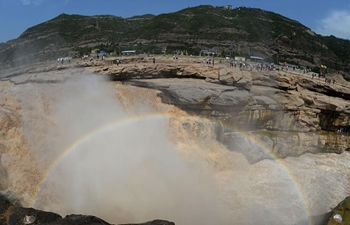 Amazing scenery of Hukou Waterfall of Yellow River
