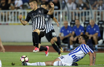 UEFA Champions League qualifying football match: Partizan vs. Buducnost