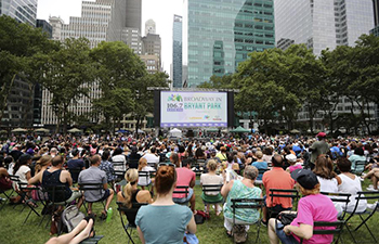Broadway in Bryant Park 2017 on show in New York