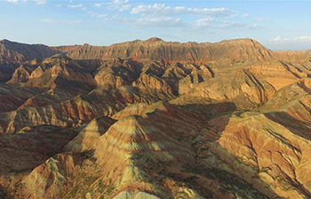 In pics: scenery of Danxia landform in NW China's Gansu