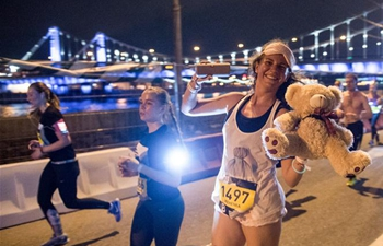 5th night run held in Moscow, Russia