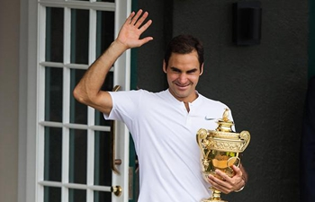 Federer wins eighth Wimbledon title