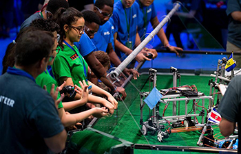Students worldwide compete at international robotics event in Washington