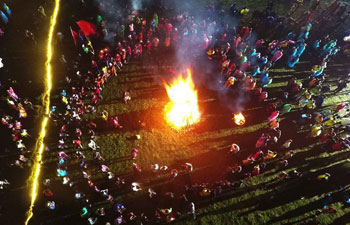 People enjoy torch festival in southwest China's Sichuan