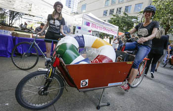 Bike-to-Shop challenge held in Vancouver, Canada