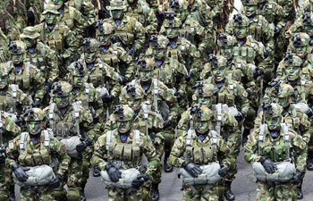 Military parade held to mark Colombia's Independence Day