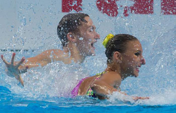 Russia wins gold medal of Synchronized Swimming Mixed Duet Free