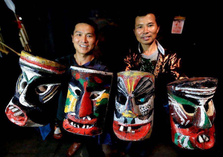 "Masks of ""Manghao"" god made in SE China"