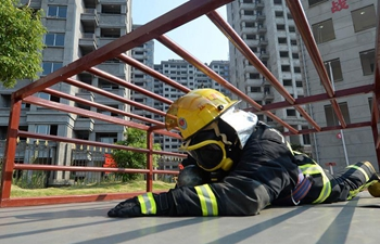 Rescue drill held in E China's Yichun
