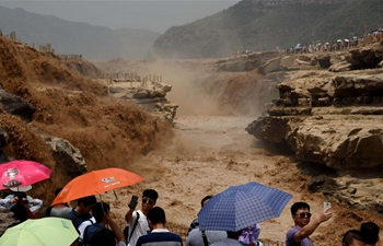 Hukou Waterfalls in N China enter summer flood period