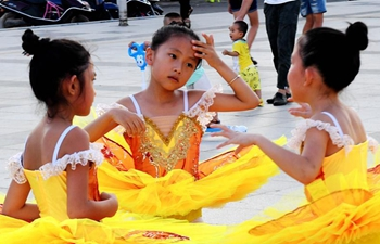 Children prepare for national dance competition in S China