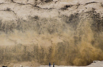 Annual maximum peak of Hukou Waterfall seen due to heavy rainfall