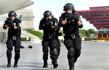 SWAT team members take part in drill