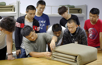 Military recruitment education activity held for enrollees in N China
