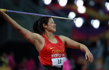 China's Li Lingwei takes javelin throw silver at London worlds