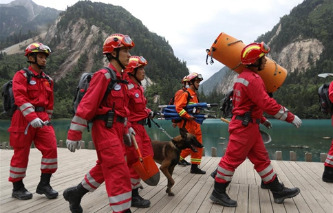 Rescuers continue further search in quake-hit Jiuzhaigou