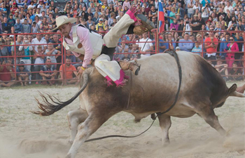 Rodeo Bull Riding Central European Championships held in Hungary