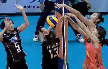 Thailand beats China 3-2 at Asian Women's Senior Volleyball Championship