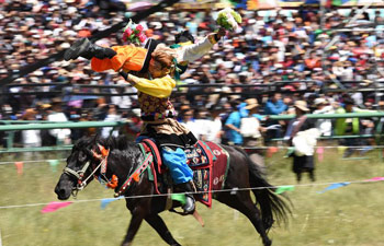 Gesar horse racing festival opens in NW China's Gansu