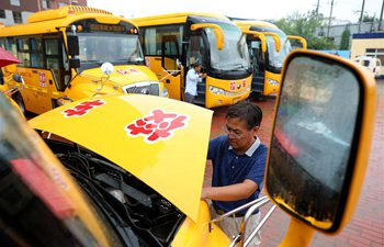 Safety check carried out on school buses in China's Hebei