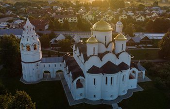 Aerial view of Monastery of Alexander in Suzdal, Russia