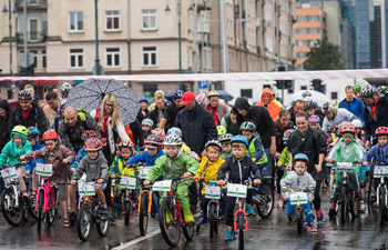 Velomarathon Vilnius cycling race starts in Lithuania