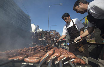 Barbecue contest held in Buenos Aires, Argentina