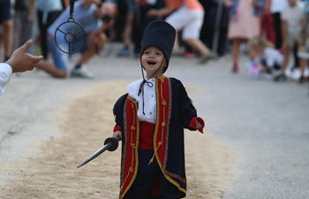 Children's Alka lancing tournament held in Croatia