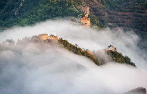 Clouds in Huangyaguan section of Great Wall in Tianjin