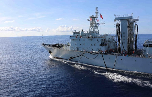 Chinese naval fleet stages live-fire drill in Indian Ocean