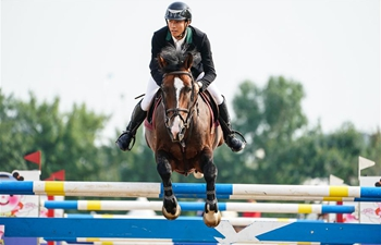 Guangdong wins National Games show jumping team competition of Equestrian