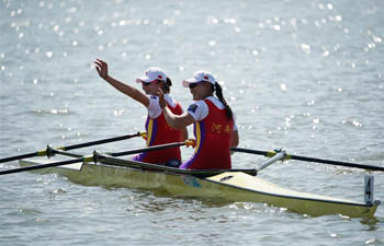 Henan wins gold in women's double sculls at Chinese National Games