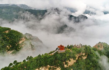 View of Wulao Peak in N China's Shanxi