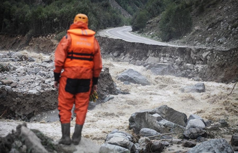 Rescue operation starts at mudslide site in southwestern Russia