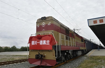 Chinese int'l freight train leaves Yinchuan for Tehran