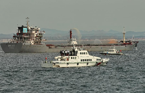 Joint marine emergency drill held on border area of Hebei and Liaoning