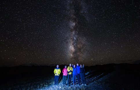 Starry sky seen in SW China's Tibet