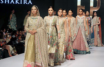 On the runway at Pakistan Fashion Week