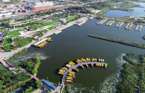 Scenery of Hengshui Lake nature reserve wetland park in N China