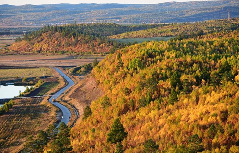 Autumn scenery of Huma County in NE China's Heilongjiang