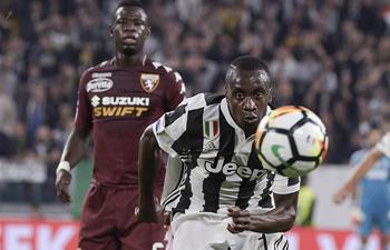 Serie A soccer match: Juventus beats Torino 4-0