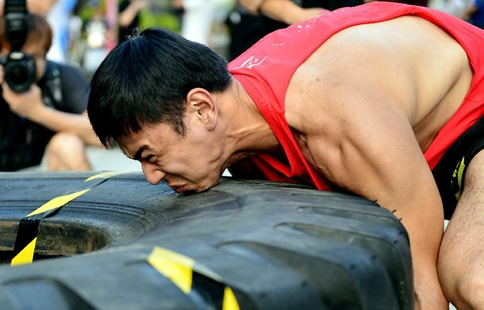 Tyre-themed contest held in S China's Nanning