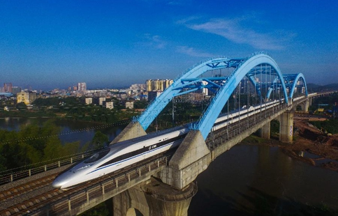 Scenery of high-speed rail networks in south China's Guangxi