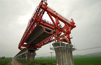 Railway linking Shangqiu, Hefei, Hangzhou under construction