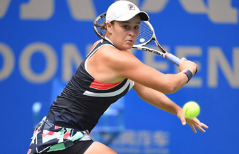 In pics: singles quarterfinal at WTA Wuhan Open