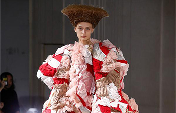 Creations of Comme des Garcons presented at fashion week in Paris