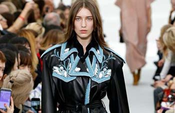Creation of Celine staged at fashion week in France